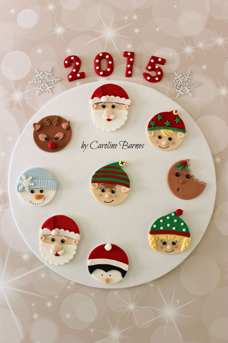Christmas Cupcake Toppers on Cake Central