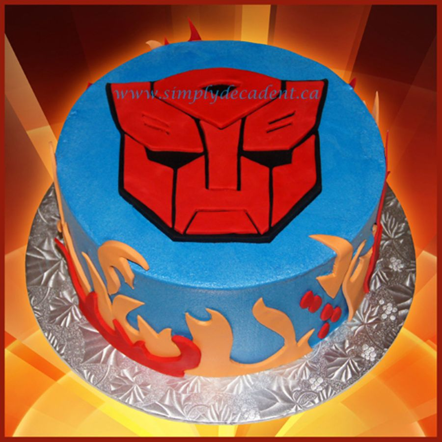 Astounding Transformers Birthday Cake Cakecentral Com Personalised Birthday Cards Paralily Jamesorg