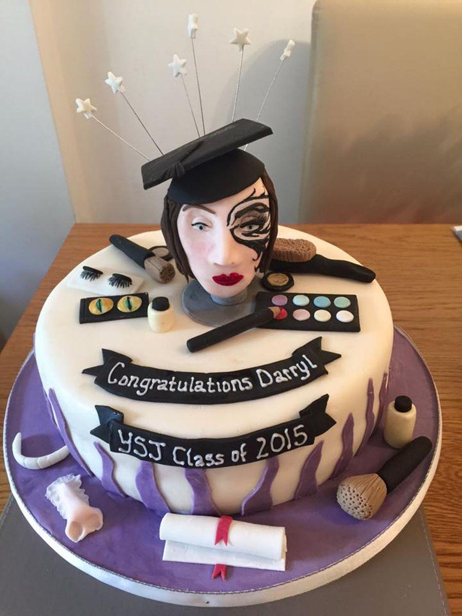 Graduation For A Media Makeup Artist Cake CakeCentralcom
