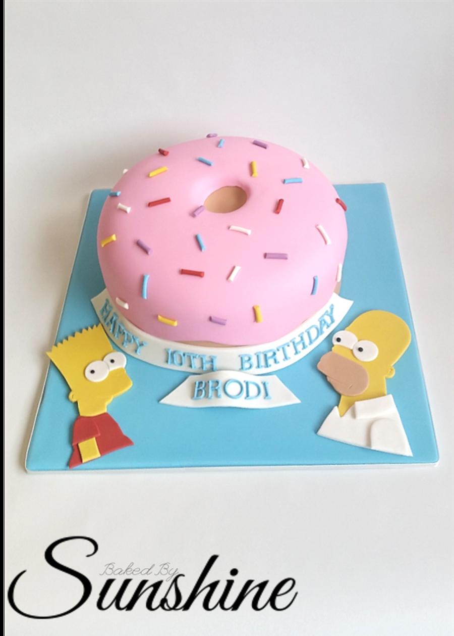 Enjoyable Simpsons Birthday Cake Cakecentral Com Birthday Cards Printable Inklcafe Filternl