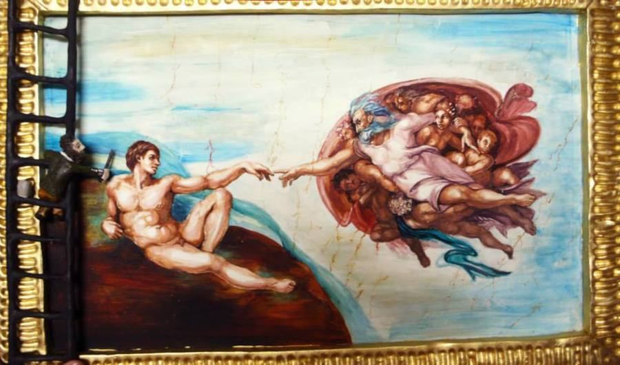 Michelangelo Edible Painting Cakecentral Com