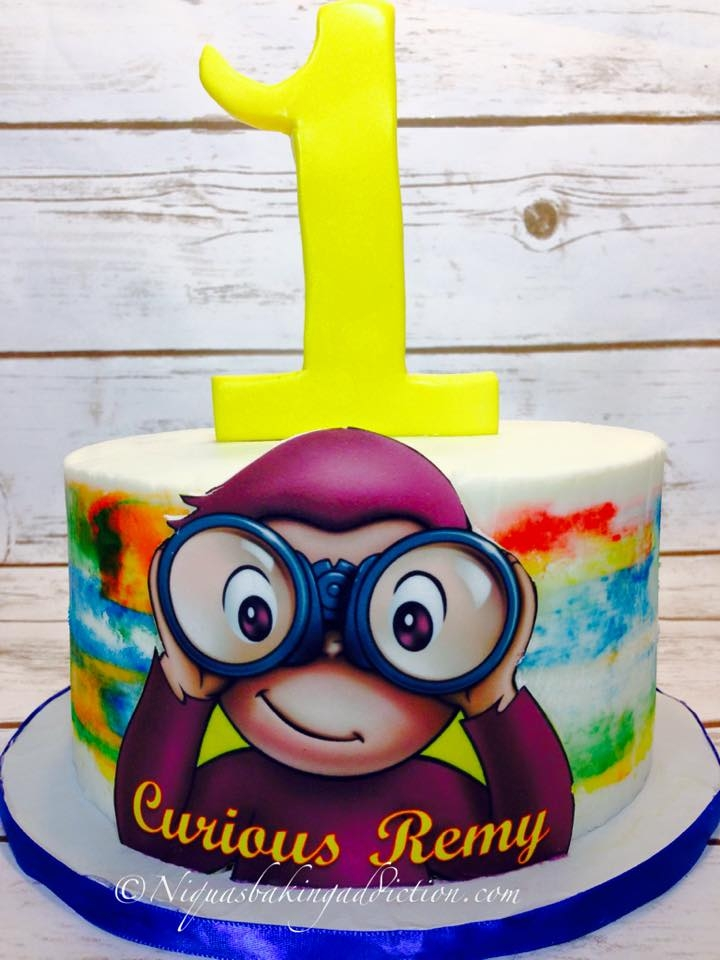 Curious George 1St Birthday Cake - CakeCentral.com