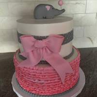 Pink And Grey Baby Shower   Baby shower