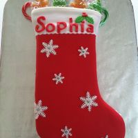 Merry Christams Stocking   Christmas Stocking for a friend. Fondant