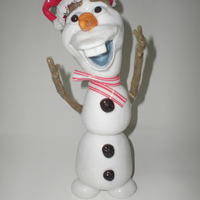 Chrismas Olaf Blown and pulled sugar Isomalt