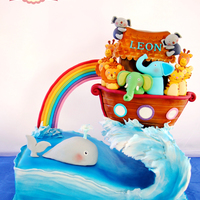 Gravity Defying Noah Ark I made this last time for my son's birthday. I just wanted to challenge my self with a grafity defying cake. The cake was...