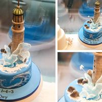Breathtaking Lighthouse - Isomalt And Cake Lights This beautiful cake was a surprise order from a client all the way at Harvard for a special friend in here in Switzerland. We had to make...
