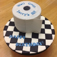 Toilet Paper Roll 50th Birthday Cake