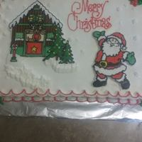 Christmas Cake All buttercream, with FBCT.