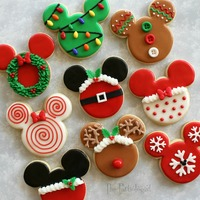 Christmas Themed Disney Cookies Christmas themed Disney ookies I created for my sister and her family before they headed to Walt Disney World for Mickey's Very Merry...