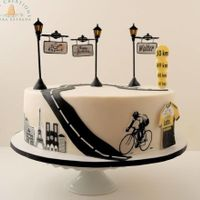 Le Tour De France Big 50 Got a last minute request from a client who wanted a special cake for her hubby, Walter who turned 50. He will be going to Paris to...