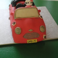 Hello Kitty Car Cake   Hello kitty car cake