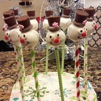 Christmas Cake Pops Christmas Cake pops- frosty the snow man