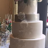 Christmas Snowflake Wedding This was a wedding cake done for my uncle. They got married two days after Christmas at the Mission Inn in Riverside. The wedding theme was...