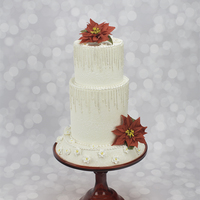 How To Decorate A Winter Wonderland Wedding Cake With Piped Icicles The finished cake is three tiers all white cake (recipe link below) enrobed in fondant with a lemon curd filling.Tier Designs:-The Top Tier...