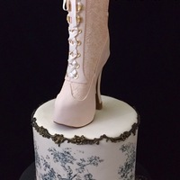 Victorian Style I love Victorian Style. For the boot I use Cake Lace Eternity silicone mat , Satin Ice Fondant and gum-paste, Martha Steward punch.For the...
