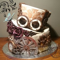 Steampunkstyle Sweetsixteen steampunk cake for my niece