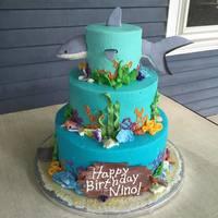Shark Cake   Nino wanted a shark cake for his fourth birthday.