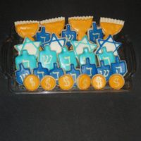 Decorated Sugar Cookies For Hanukkah NFSC with royal icing