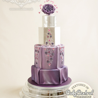 Purple And Silver Dress-Inspired Cake This cake is inspired by an Abed Mahfouz dress. I was thrilled that it was featured in the 2015 Fashion Issue of Cake Central Magazine!...