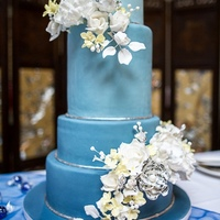 Ombre Blue Wedding Cake Ombre blue wedding cake done for a friend earlier this year. Loved, loved, loved this cake and working with the bride. She and her husband...