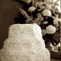 Rosette Wedding Cake   Buttercream Rosette Wedding Cake