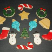 Decorated Sugaer Cookies For Christmas NFSC with royal icing
