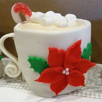 "Christmas Cakes Individual ""hot cocoa"" cake cups. All edible wrapped in white fondant..."