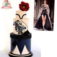 Phoenix And Peony - Zuhair Murad's Fashion Inspiration My cake is inspired by the Zuhair Murad's Fall / Winter 2011-2012 Couture Collection. The collection was influenced by Chinese...