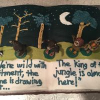 Where The Wild Things Are Open book, 'Where the Wild Things are' baby shower cake