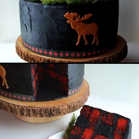 Buffalo Or Lumberjack Plaid My version of Buffalo or Lumberjack Plaid. On the inside. Rosemary sprigs and cranberry toppers. Peanut butter moose. Edible image plaid...