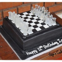 Chess Board A Chess Board Cake I did for my son's birthday as per his request. Your own kids are the ones who gives you the toughest challenging...