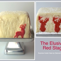 The Elusive Red Stag - Surprise Inside Cake The original plan was to use white chocolate trees but I like the almost shadowy effect of the free hand etched trees much better. I also...