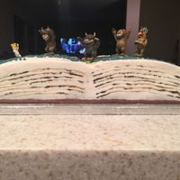 Where The Wild Things Are Side view of my open book cake.