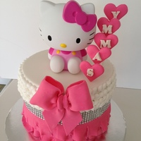 Adsc-Hello Kitty Birthday Hello Kitty themed cake for a little girl turning 4