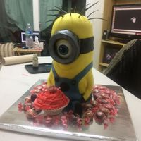Minion Cake this is inspired by Ann Reardon from How to Cook That.com if you go to her website, she gives full instructions on how to make this cake.