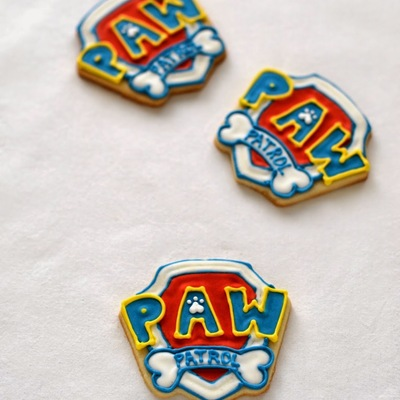 Paw Patrol Badge Cookies on Cake Central