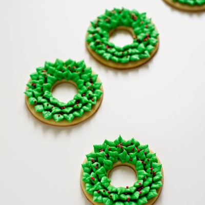 Christmas Wreath Cookies on Cake Central