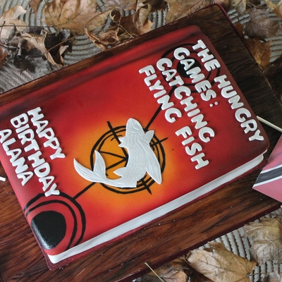 Hunger Games Book Cake on Cake Central