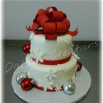 Christmas Ornament Theme on Cake Central