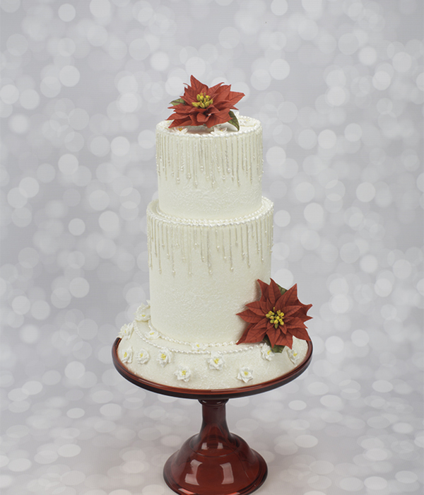 How To Decorate A Winter Wonderland Wedding Cake With Piped...