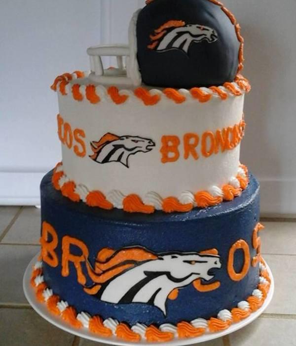 Excellent Top Denver Broncos Cakes Cakecentral Com Birthday Cards Printable Trancafe Filternl