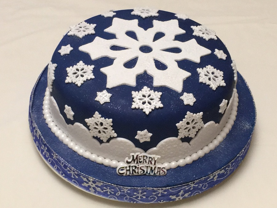 Snowflake Christmas Cake on Cake Central