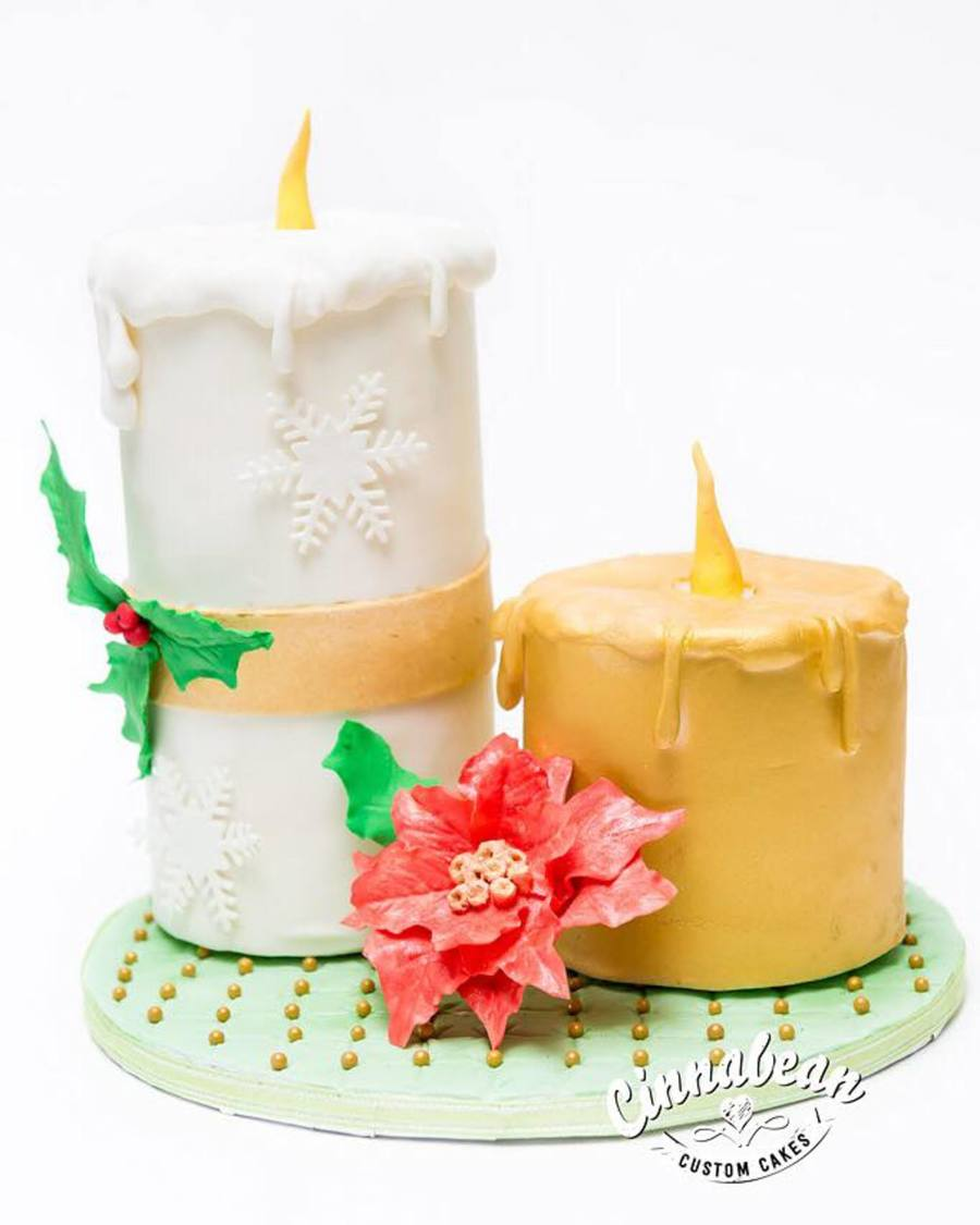 Christmas Candle Cake on Cake Central