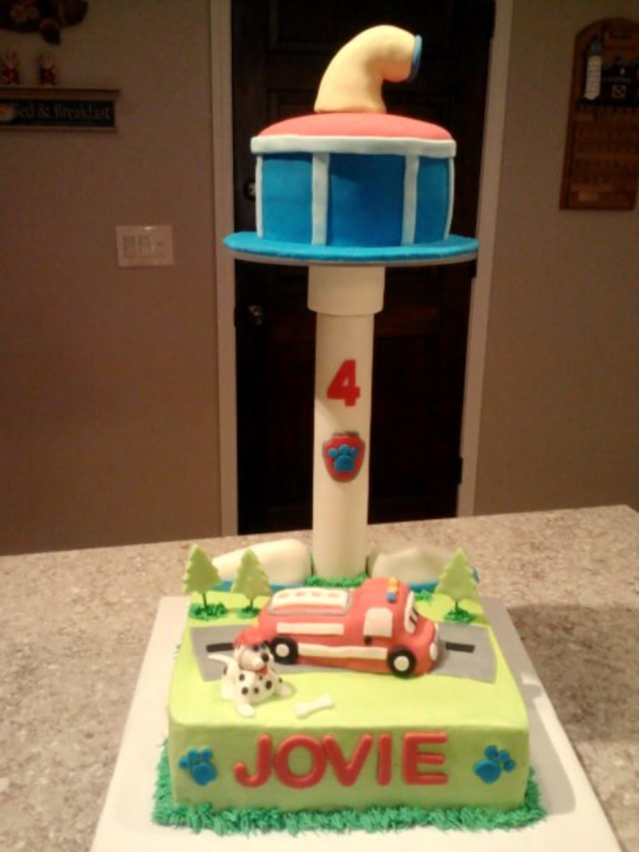 Paw Patrol Marshall Buttercream And Fondant Birthday Cake on Cake Central