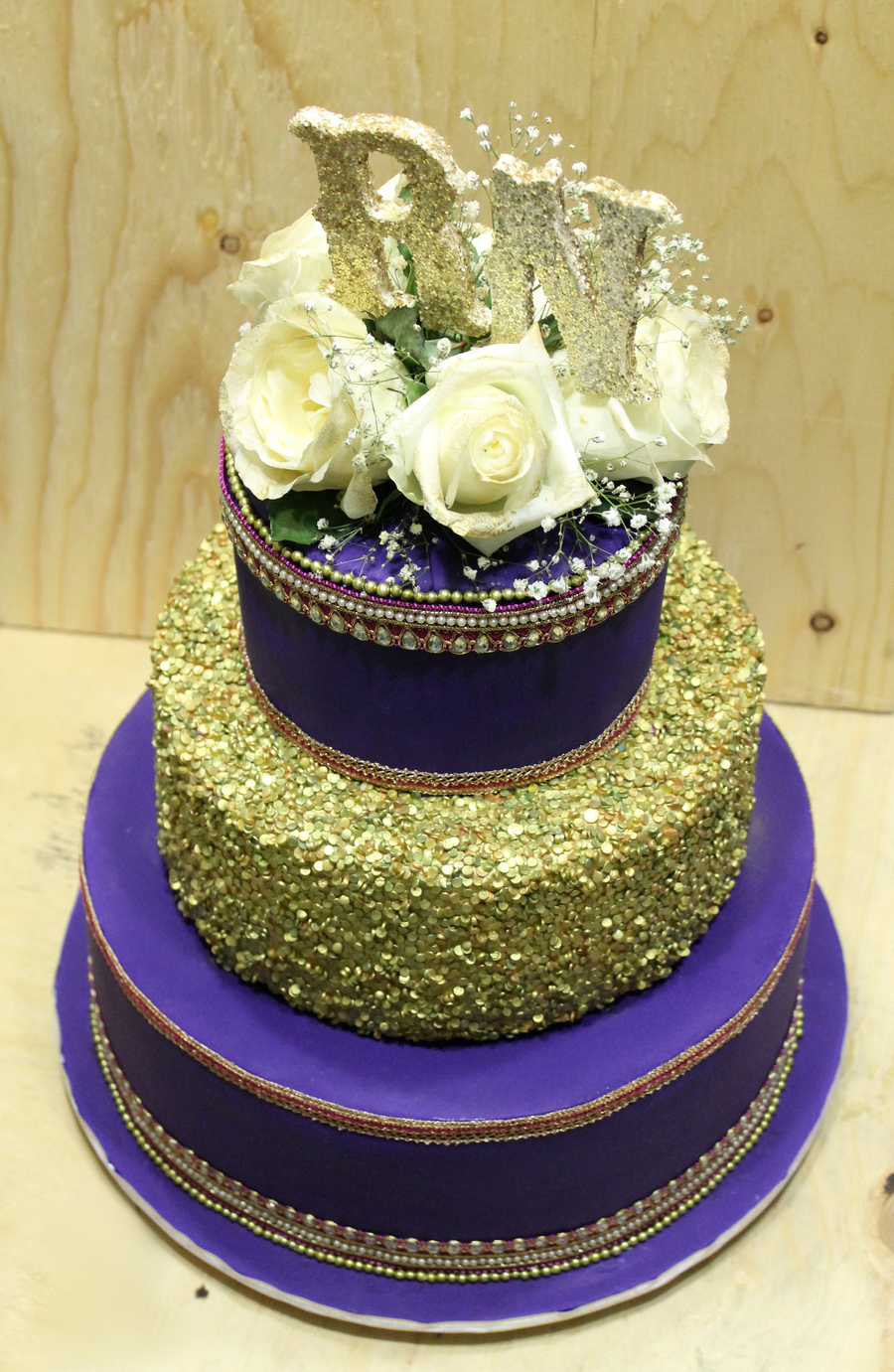 Purple Indian Themed Wedding Cake - CakeCentral.com