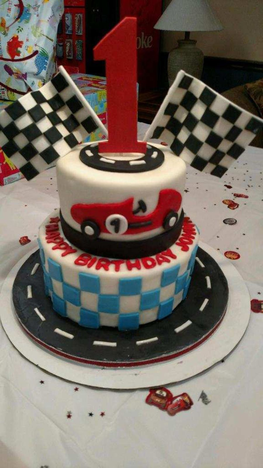 Race car cake cakecentral race car cake on cake central baditri Choice Image