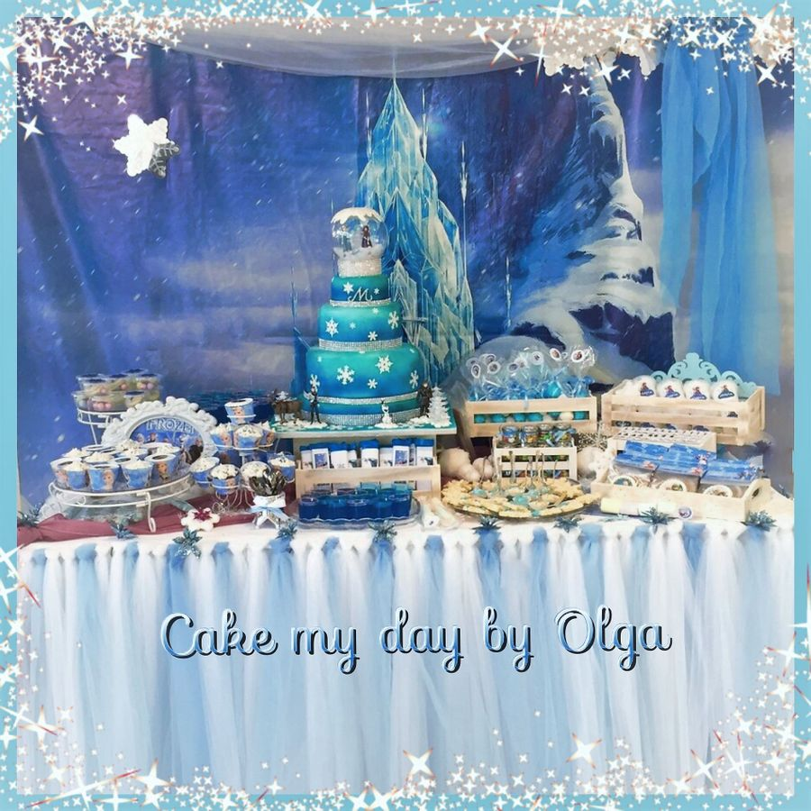 Frozen Snowglobe on Cake Central