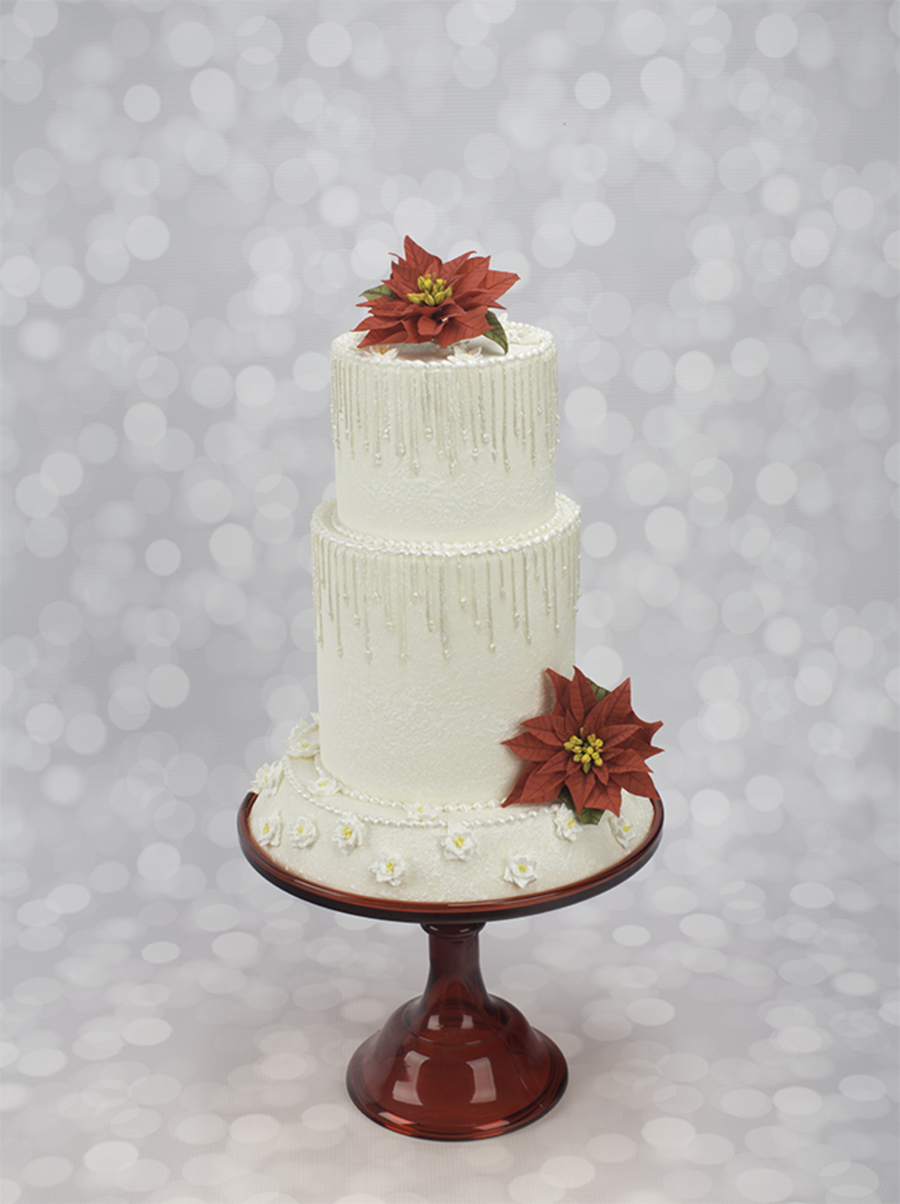 How To Decorate A Winter Wonderland Wedding Cake With Piped Icicles on Cake Central
