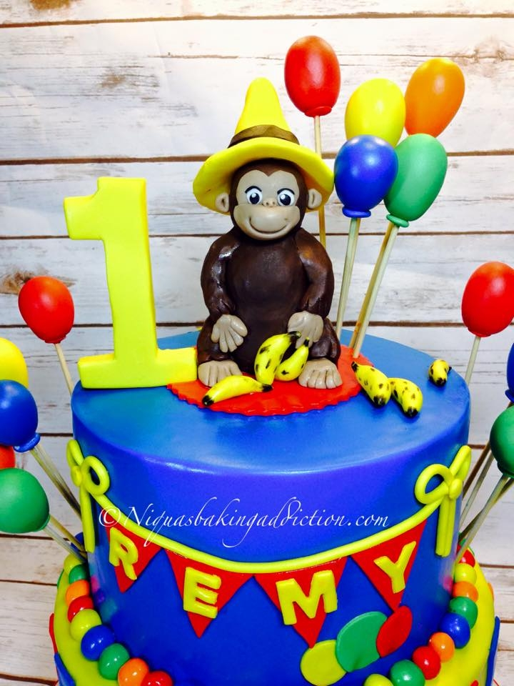 Stupendous Curious George 1St Birthday Cake Cakecentral Com Personalised Birthday Cards Paralily Jamesorg